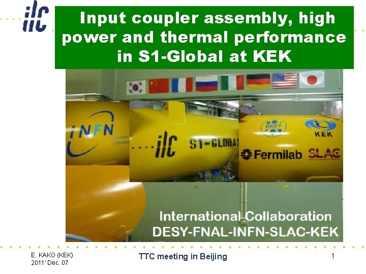 Input coupler assembly, high power and thermal performance in S 1 -Global at KEK