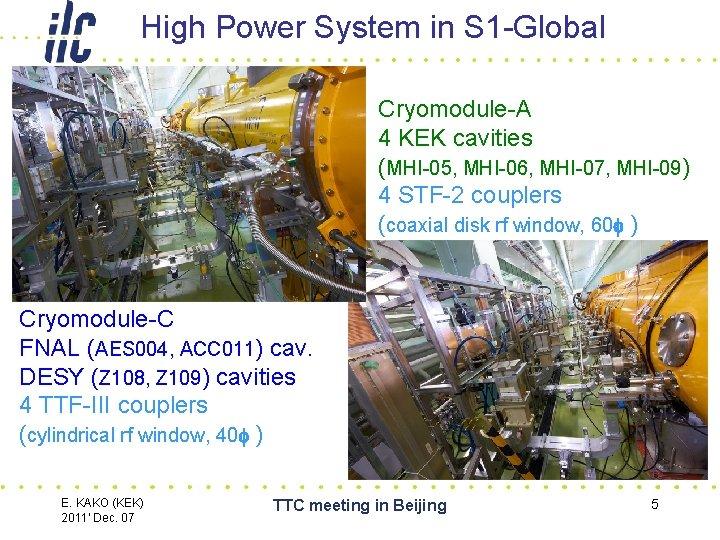 High Power System in S 1 -Global Cryomodule-A 4 KEK cavities (MHI-05, MHI-06, MHI-07,
