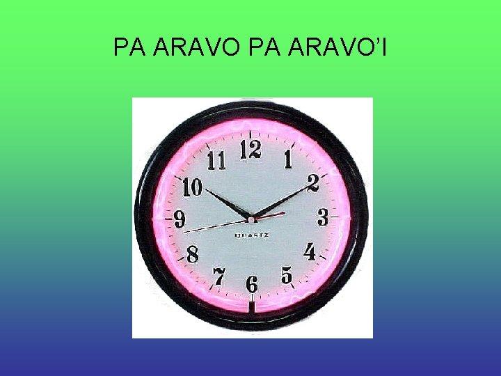 PA ARAVO'I