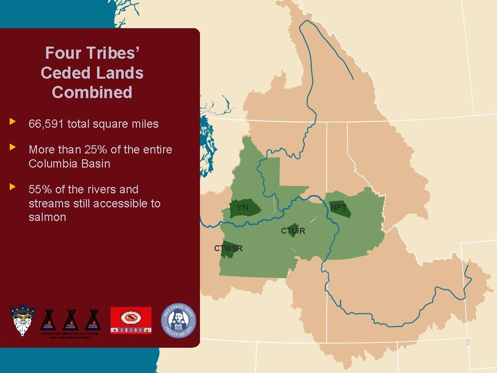 Four Tribes' Ceded Lands Combined 66, 591 total square miles More than 25% of