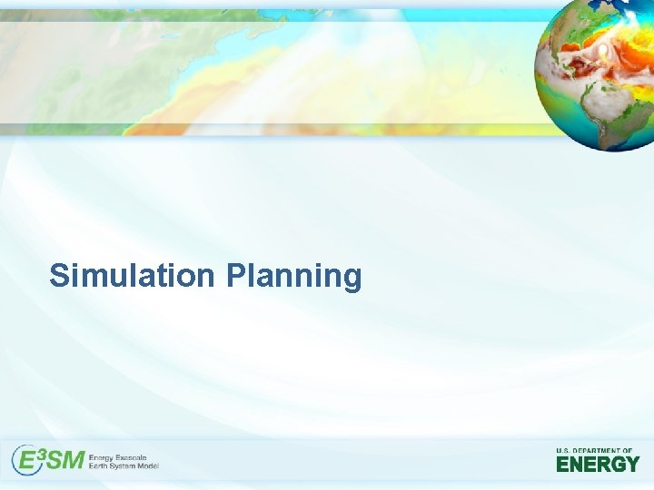 Simulation Planning