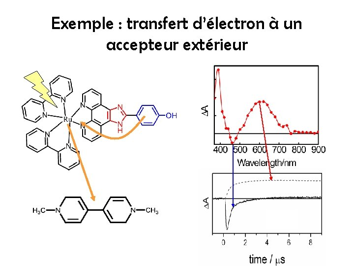 Exemple : transfert d'électron à un accepteur extérieur