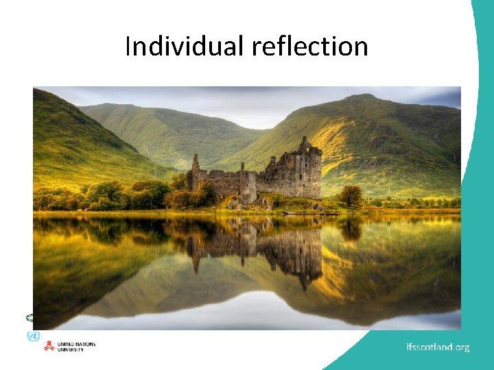 Individual reflection