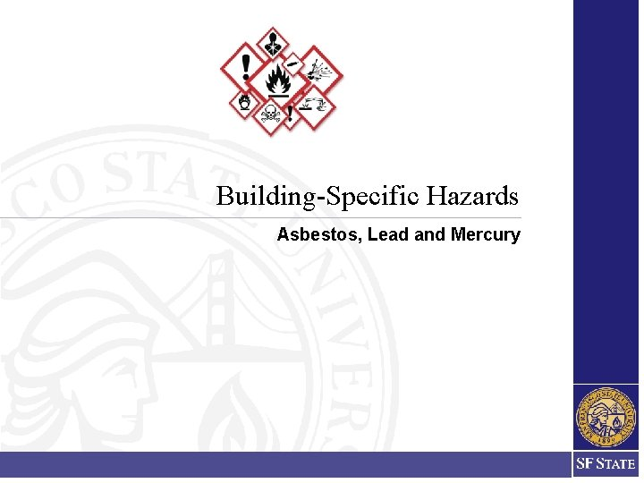 Building-Specific Hazards Asbestos, Lead and Mercury