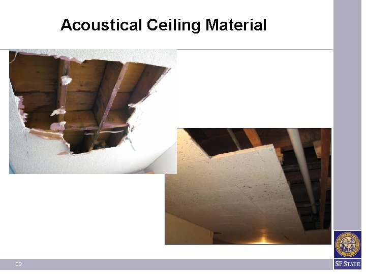 Acoustical Ceiling Material 38