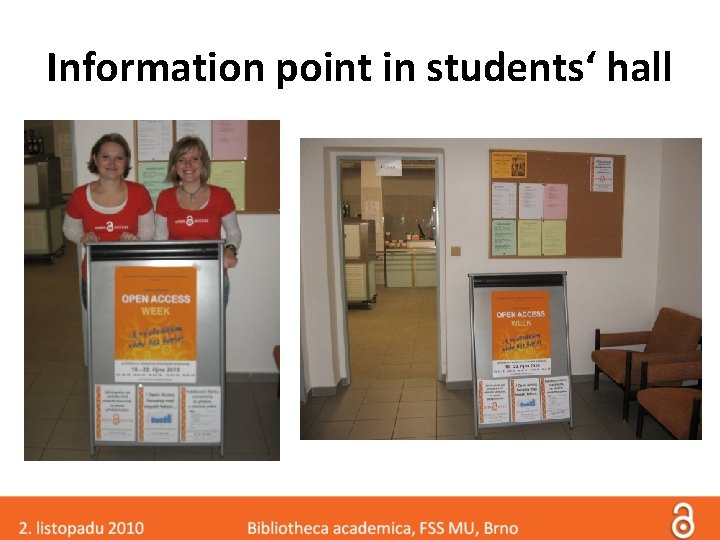 Information point in students' hall