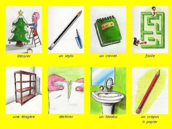décorer un stylo un carnet facile une étagère déchirer un lavabo un crayon à