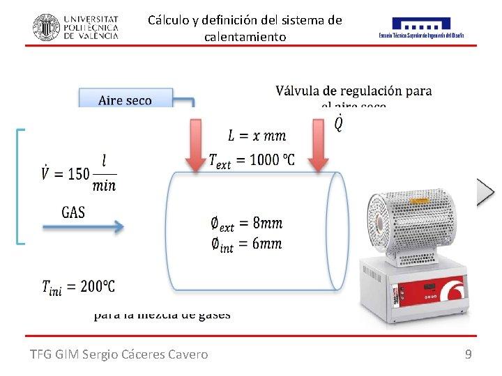 Cálculo y definición del sistema de calentamiento Objetivo: Definir un sistema de calentamiento para