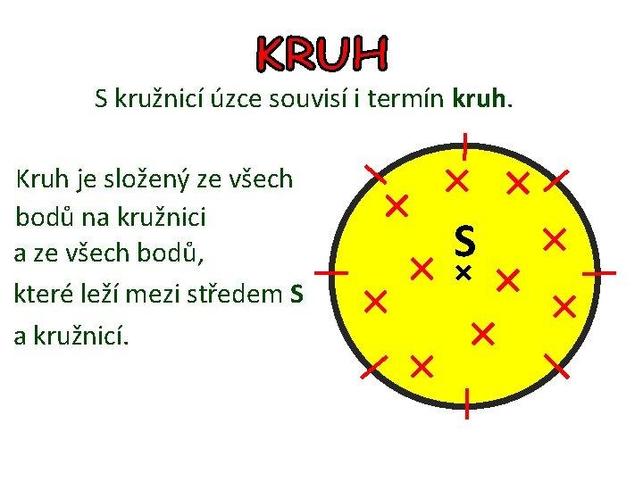 S kružnicí úzce souvisí i termín kruh. Kruh je složený ze všech bodů na