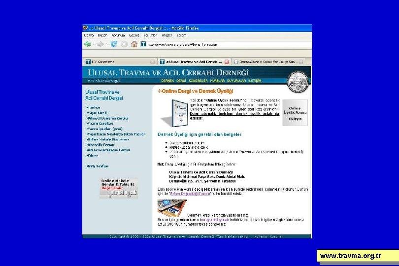 www. travma. org. tr