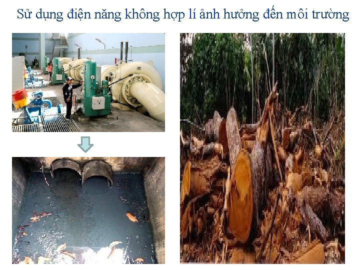 Sử dụng điện năng không hợp lí ảnh hưởng đến môi trường