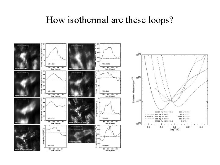 How isothermal are these loops?