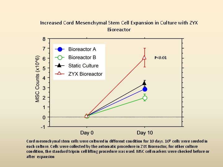 Increased Cord Mesenchymal Stem Cell Expansion in Culture with ZYX Bioreactor P<0. 01 Cord