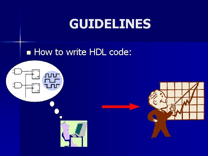 GUIDELINES n How to write HDL code: