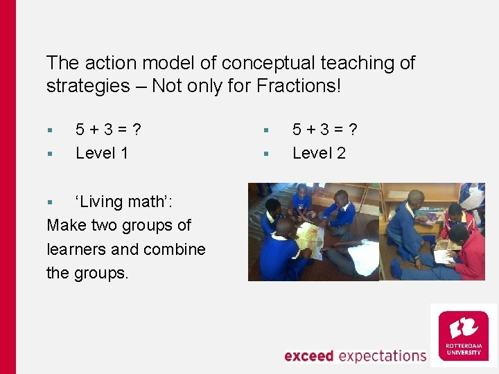 The action model of conceptual teaching of strategies – Not only for Fractions! §