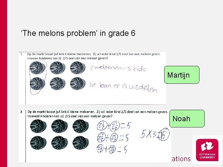 'The melons problem' in grade 6 Martijn Noah