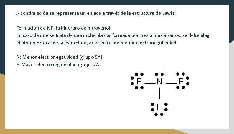 A continuación se representa un enlace a través de la estructura de Lewis: Formación