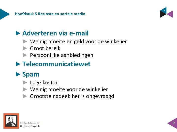Hoofdstuk 6 Reclame en sociale media ► Adverteren via e-mail ► Weinig moeite en