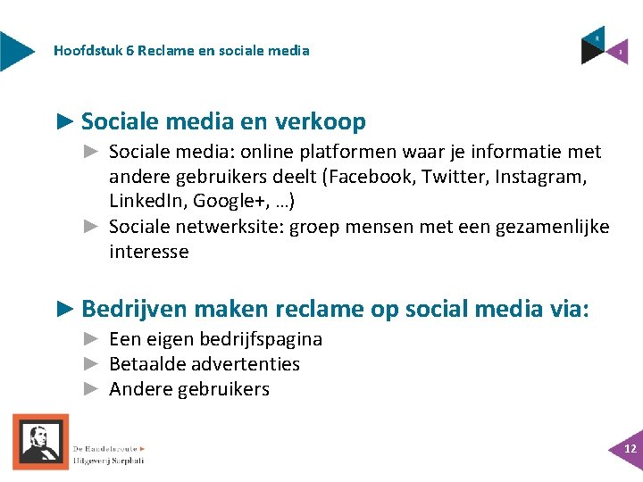 Hoofdstuk 6 Reclame en sociale media ► Sociale media en verkoop ► Sociale media: