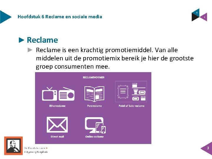 Hoofdstuk 6 Reclame en sociale media ► Reclame is een krachtig promotiemiddel. Van alle