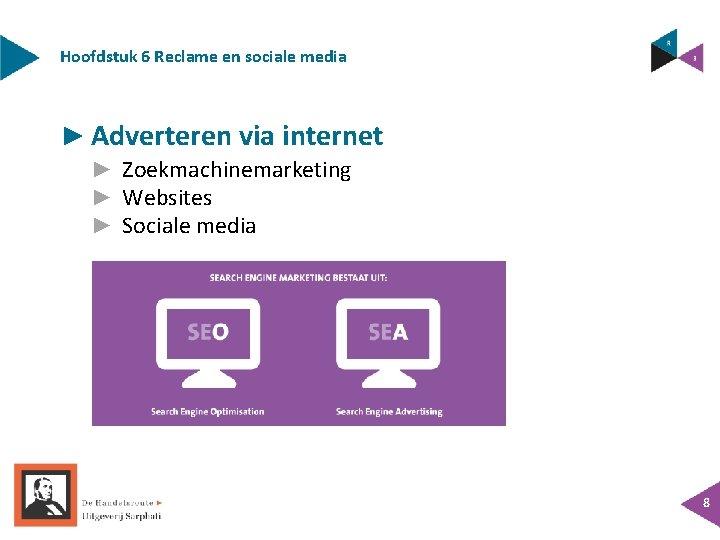 Hoofdstuk 6 Reclame en sociale media ► Adverteren via internet ► Zoekmachinemarketing ► Websites