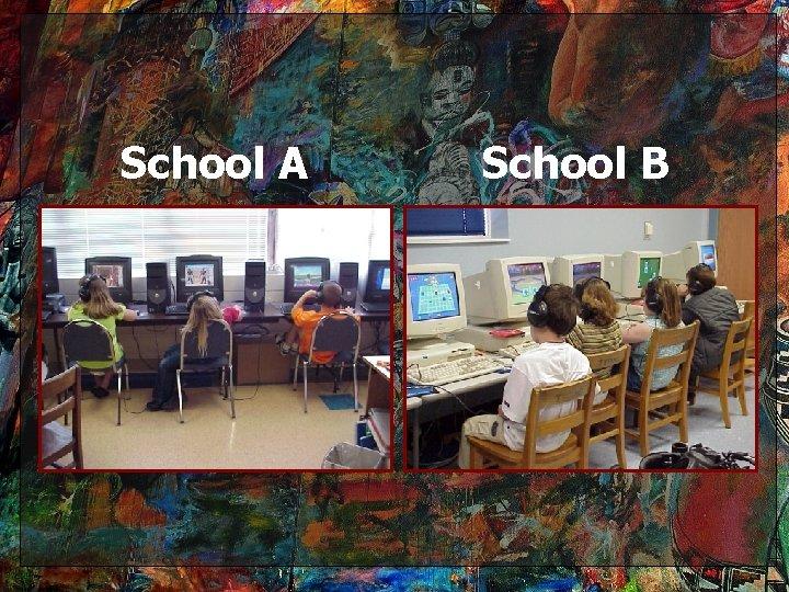 School A School B