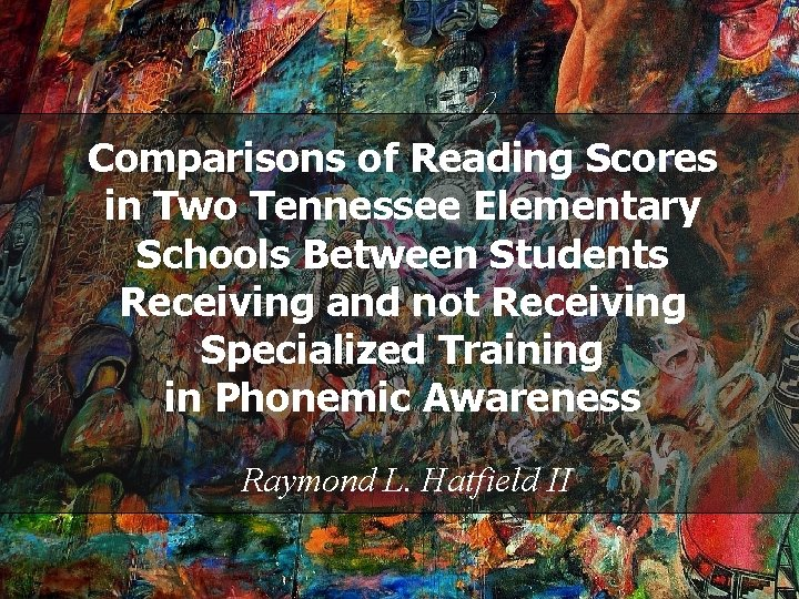 Comparisons of Reading Scores in Two Tennessee Elementary Schools Between Students Receiving and not
