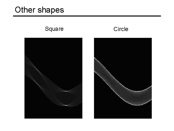 Other shapes Square Circle