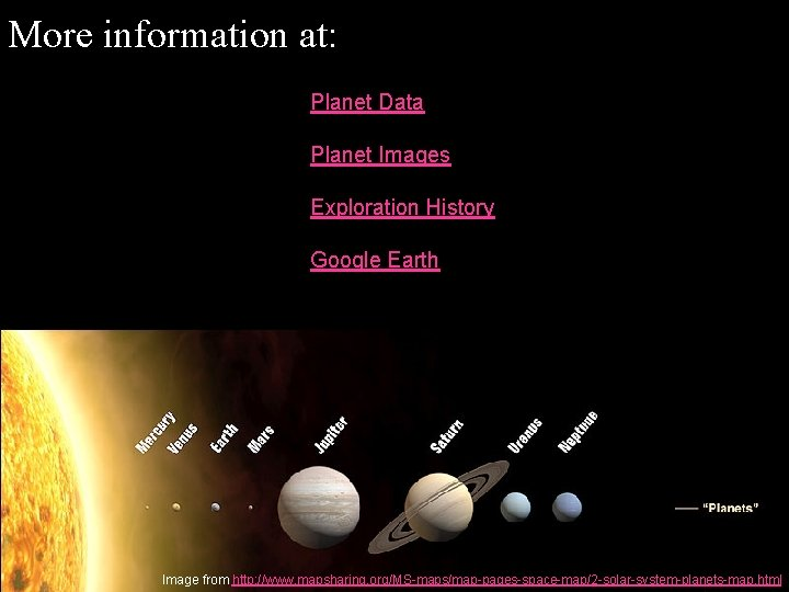 More information at: Planet Data Planet Images Exploration History Google Earth Image from http: