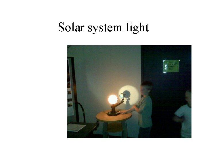 Solar system light
