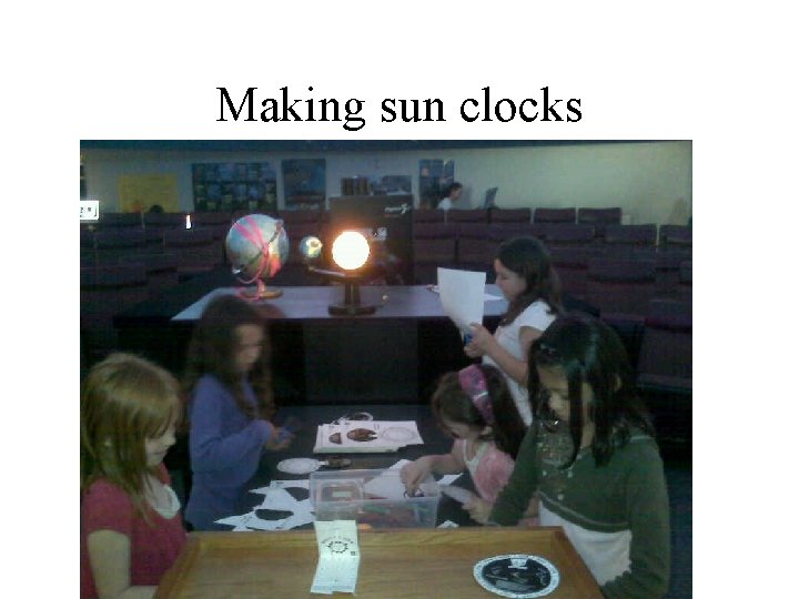 Making sun clocks
