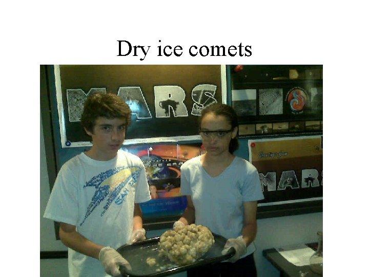 Dry ice comets