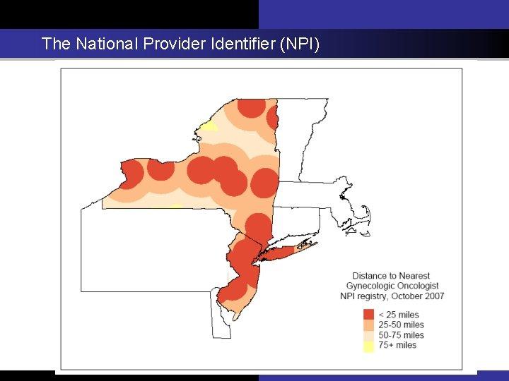 The National Provider Identifier (NPI)