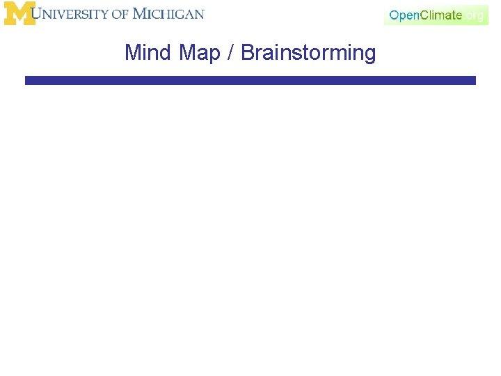 Mind Map / Brainstorming