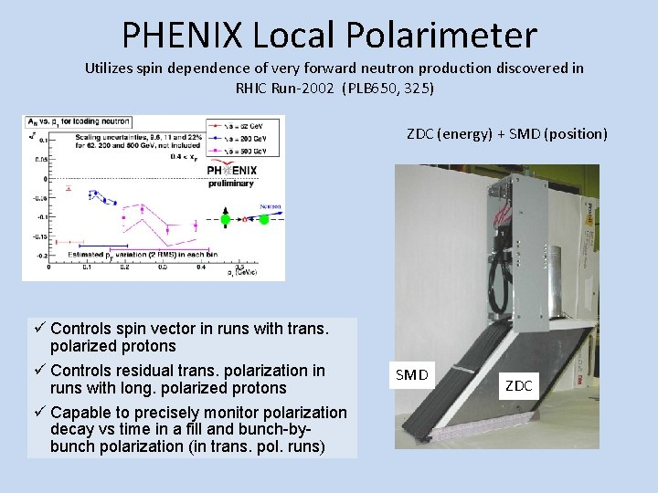 PHENIX Local Polarimeter Utilizes spin dependence of very forward neutron production discovered in RHIC