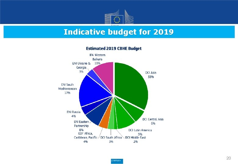 Indicative budget for 2019 20