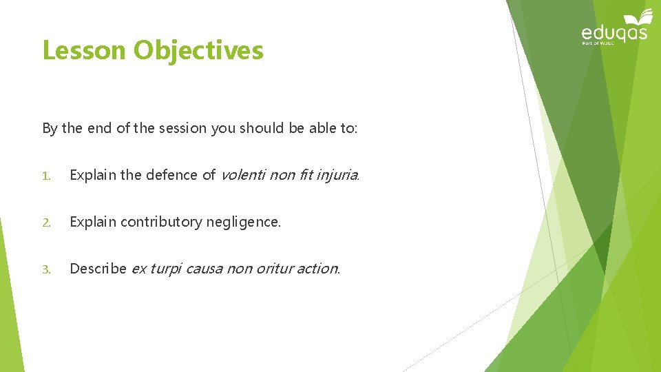 Lesson Objectives By the end of the session you should be able to: 1.