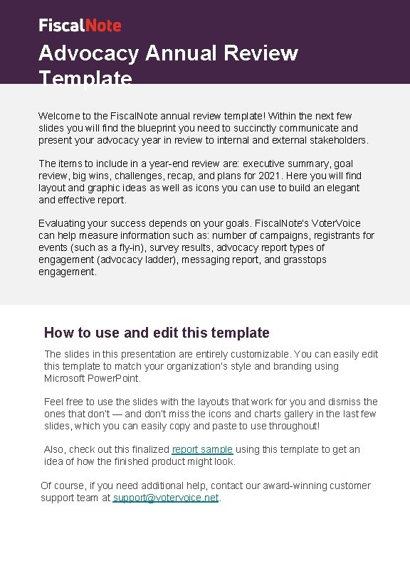 Advocacy Annual Review Template Welcome to the Fiscal. Note annual review template! Within the