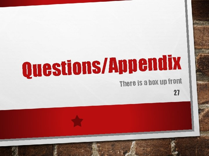 x i d n e p p A / s Question There is a