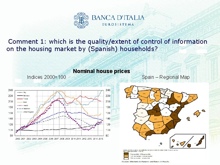 Comment 1: which is the quality/extent of control of information on the housing market