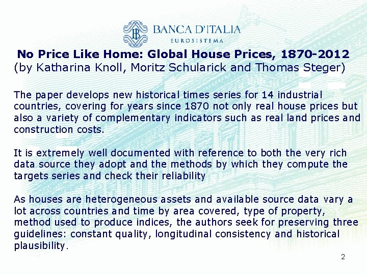 No Price Like Home: Global House Prices, 1870 -2012 (by Katharina Knoll, Moritz Schularick