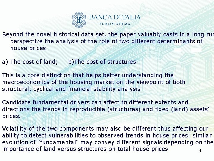 Beyond the novel historical data set, the paper valuably casts in a long run
