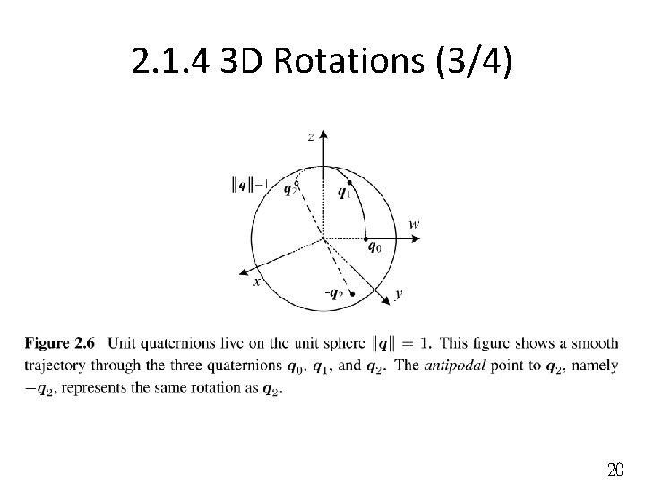 2. 1. 4 3 D Rotations (3/4) 20