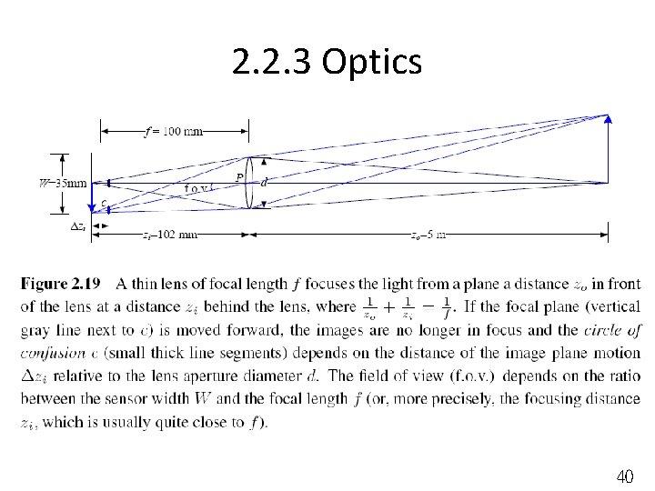 2. 2. 3 Optics 40