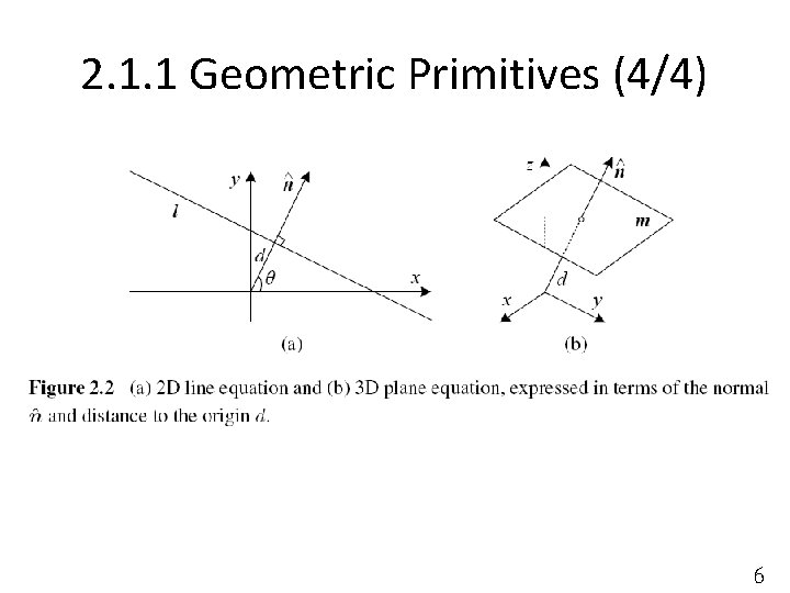 2. 1. 1 Geometric Primitives (4/4) 6