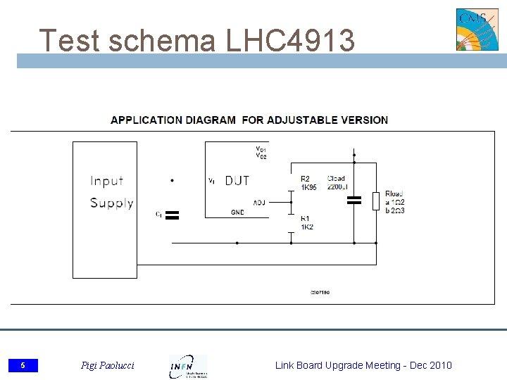 Test schema LHC 4913 5 Pigi Paolucci Link Board Upgrade Meeting - Dec 2010