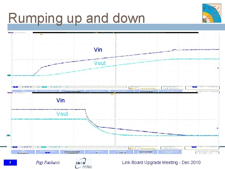 Rumping up and down Vin Vout 7 Pigi Paolucci Link Board Upgrade Meeting -