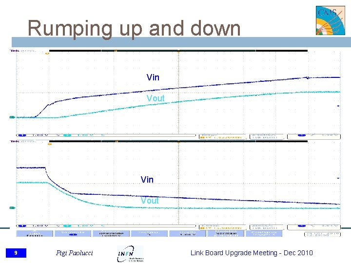 Rumping up and down Vin Vout 9 Pigi Paolucci Link Board Upgrade Meeting -
