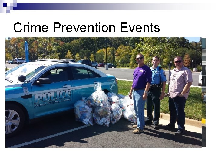 Crime Prevention Events n n n National Night Out– August 5 th Crime Prevention
