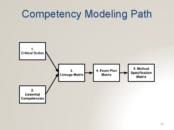 Competency Modeling Path 20